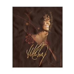 Whitney Houston Smile Fleece Blanket