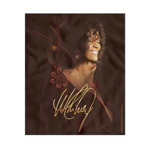 Whitney Houston Smile Fleece Blanket