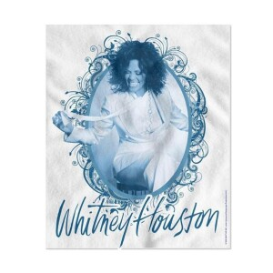 Whitney Houston Vintage Frame Fleece Blanket
