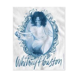 Whitney Houston Vintage Frame Fleece Blanket
