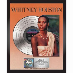 Whitney Houston 35th Anniversary Personalized Award Plaque