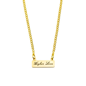 Higher Love Banner Necklace