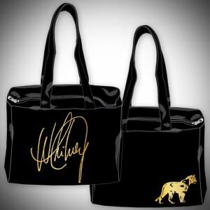 Whitney Houston Black Handbag