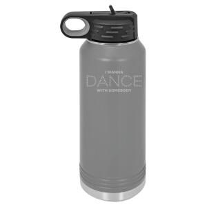 Dance Lights Grey Polar Camel Water Bottle