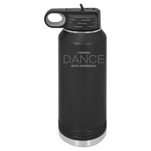 Dance Lights Black Polar Camel Water Bottle