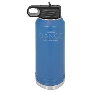 Dance Lights Blue Polar Camel Water Bottle