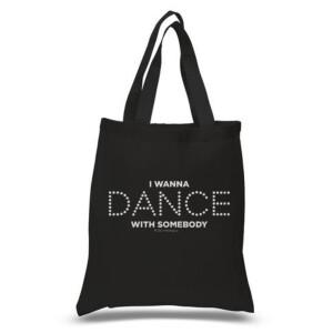 Dance Lights Black Tote Bag