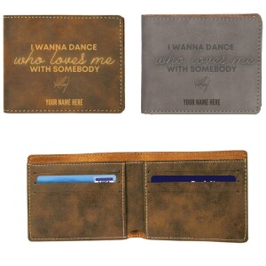 I Wanna Dance With Somebody Vegan Leather Wallet