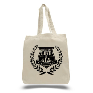 Greatest Love Crest Tote Bag