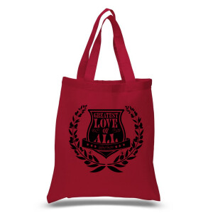 Greatest Love Crest Tote Bag (Red)