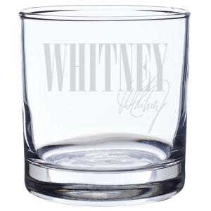 Whitney Laser-Etched Rocks Glass