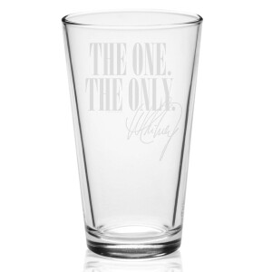 One & Only Laser-Etched Pint Glass