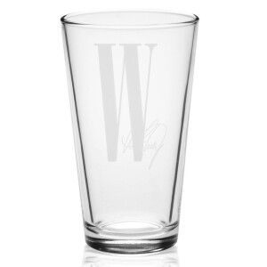 W Laser-Etched Pint Glass
