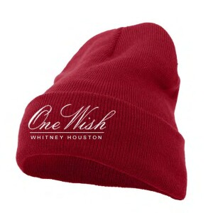 Whitney Houston One Wish Red Beanie
