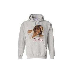 Whitney Houston One Wish Grey Hoodie