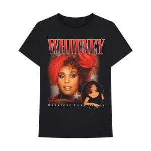 Whitney Houston Greatest Love Black T-Shirt