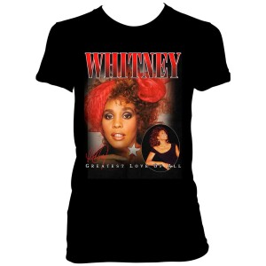 Whitney Houston Youth Greatest Love Black T-Shirt