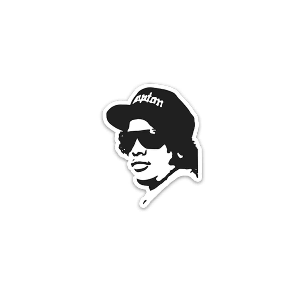 Eazy-E Silhouette Sticker