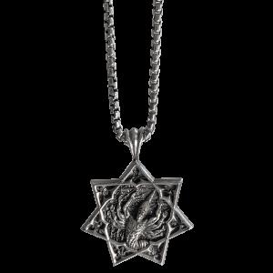 Tool Logo - Oxidized Silver Necklace