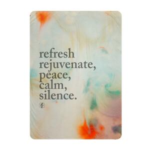 Refresh, Rejuvenate, Peace, Calm, Silence Color Plush Throw Blanket