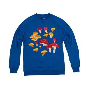 Mushroom Crewneck Sweatshirt (Blue)
