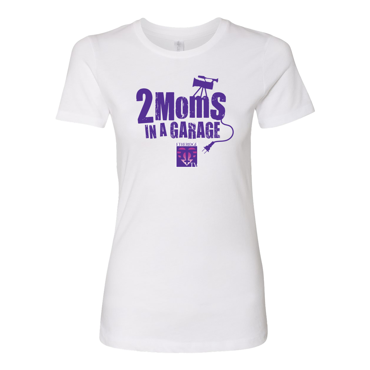 2 Moms in a Garage White Women's Style T-Shirt