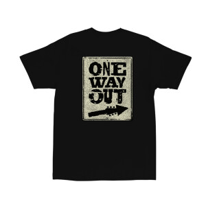 One Way Out Black T-Shirt