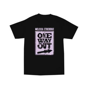 One Way Out Lavender Album Art Black T-Shirt