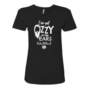 I've Got Bearded Ozzy in my Ears Black Women's Style T-Shirt
