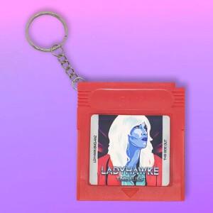 """Ladyhawke """"Time Flies"""" Gamer Girl keychain"""