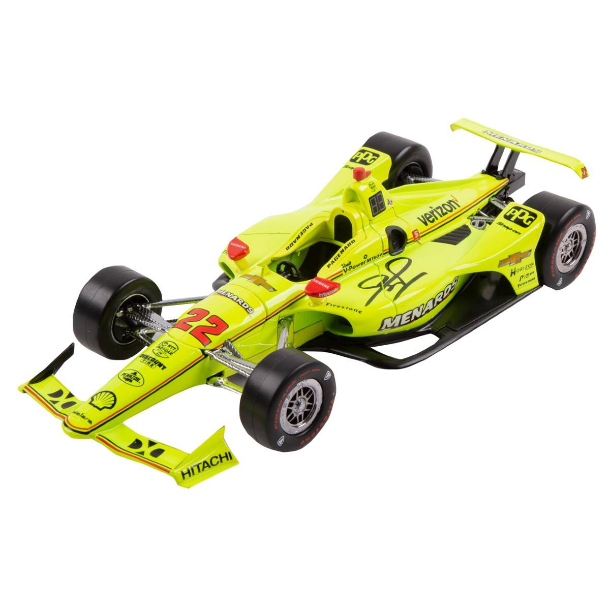 Autographed Simon Pagenaud 2019 Indy 500 Champion 1:18 Scale Diecast