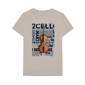 2CELLOS Newspaper Tan T-Shirt
