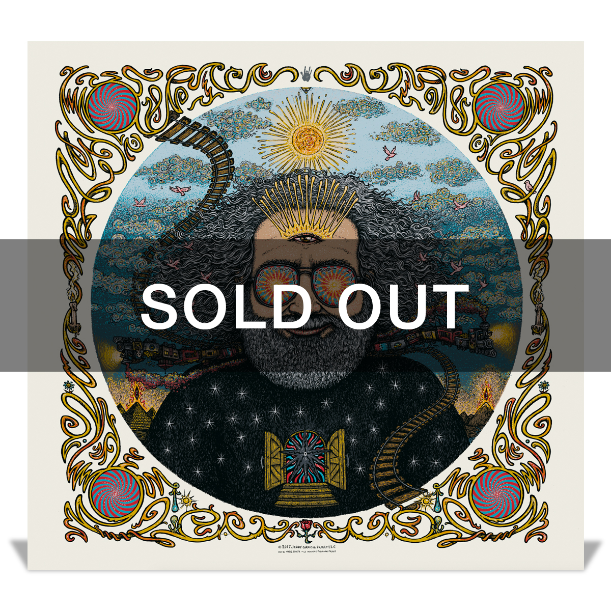 "*sold out* ""Bicycle Day 2017"" (Metallic Ivory Variant) Limited Edition Print by Marq Spusta"