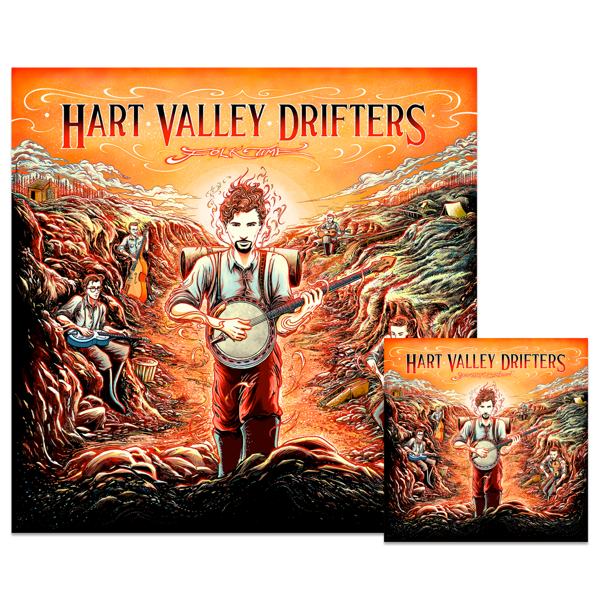 Hart Valley Drifters - Folk Time: Download & Poster Bundle