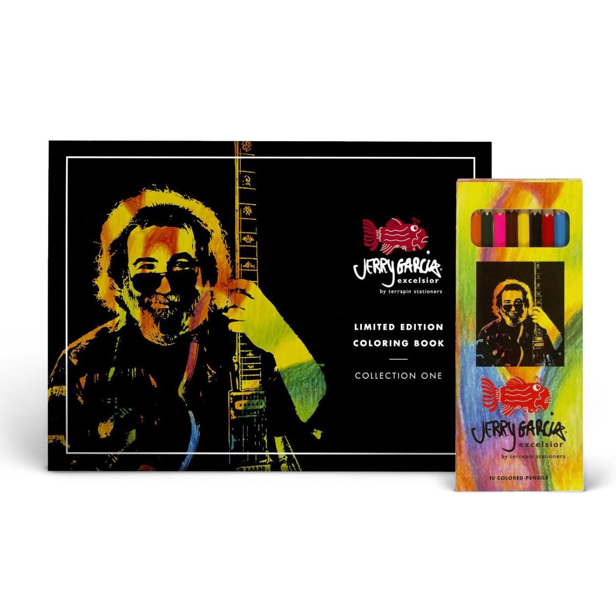 Jerry Garcia Excelsior® Coloring Book & Pencils