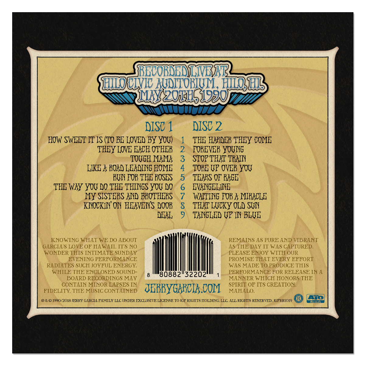 Jerry Garcia Band: GarciaLive Volume 10: Digital Download & Organic T-Shirt Bundle