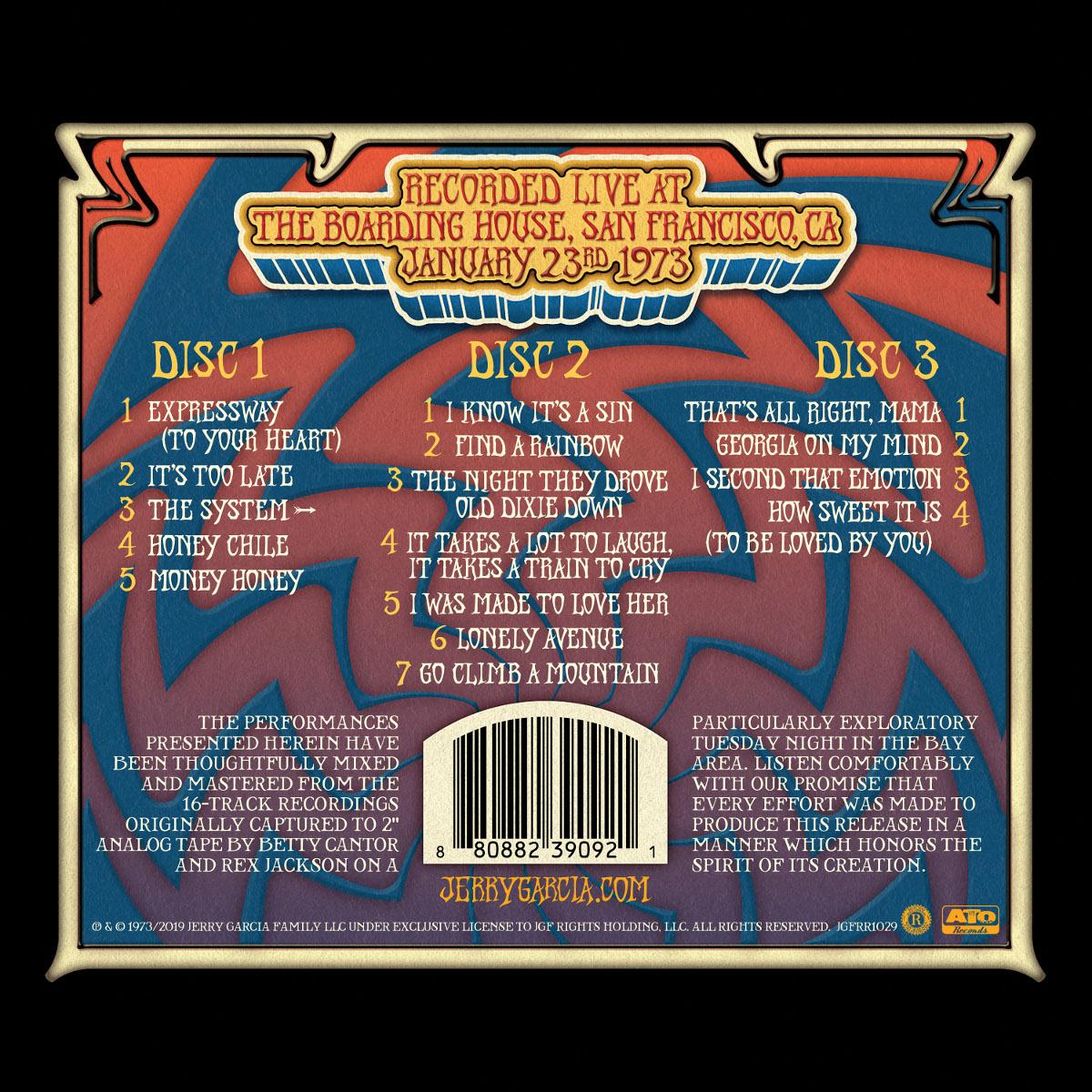Jerry Garcia & Merl Saunders – GarciaLive Volume 12: 01/23/73 CD or Download & Organic T-Shirt Bundle