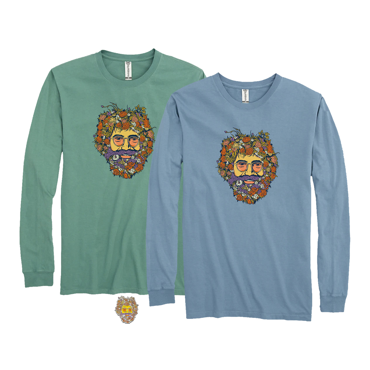 Jerry In Bloom Pin + Organic Cotton T-Shirt Bundle