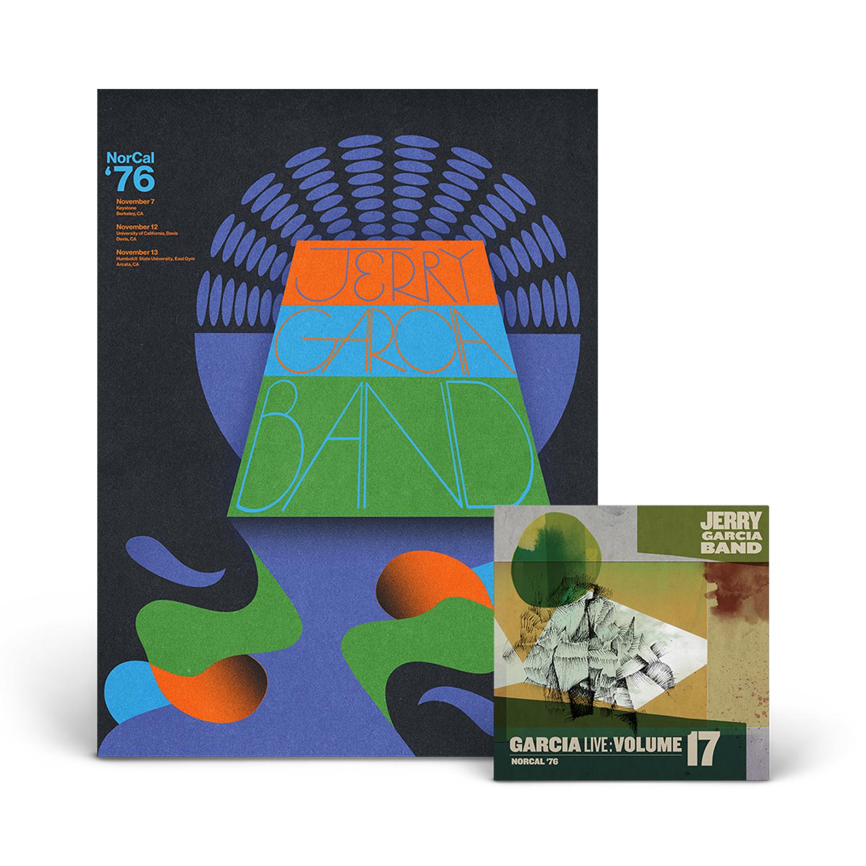 Jerry Garcia Band – GarciaLive Volume 17: NorCal '76 3-CD Set or Digital Download & Poster Bundle