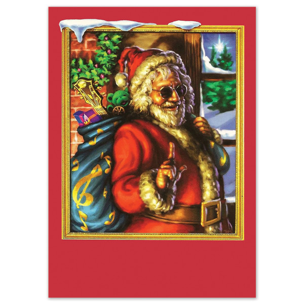 Jerry Garcia Christmas Cards [10 Pack w/ Envelopes]