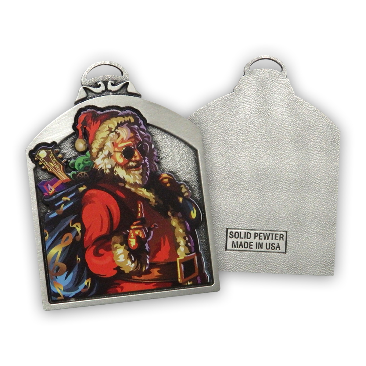 Santa Jerry Pewter Ornament