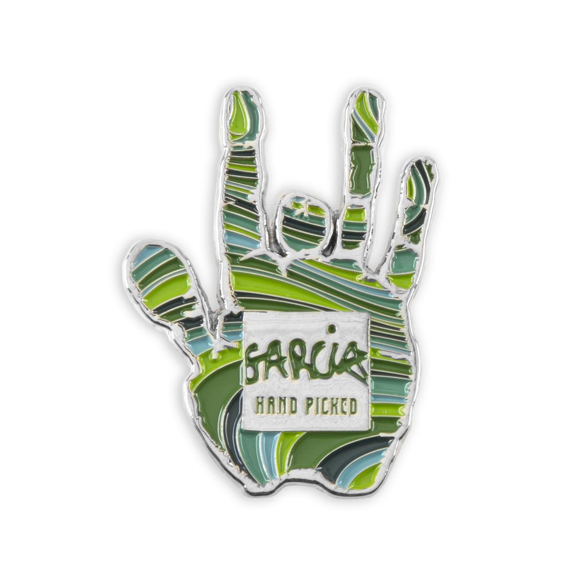 Garcia Hand Picked Handprint Pin