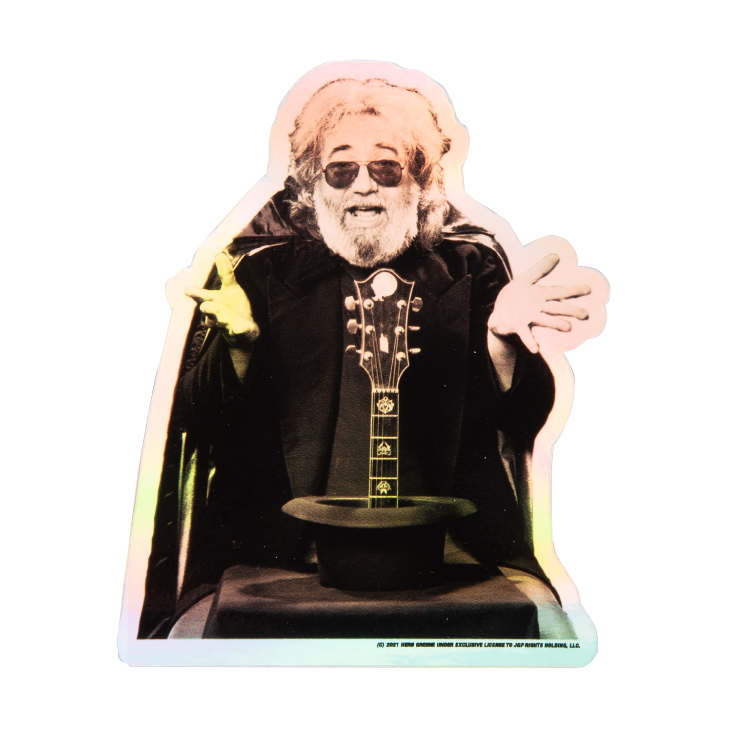 Jerry on Broadway Holographic Sticker