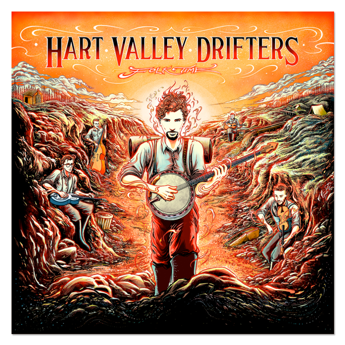 Hart Valley Drifters - Folk Time CD