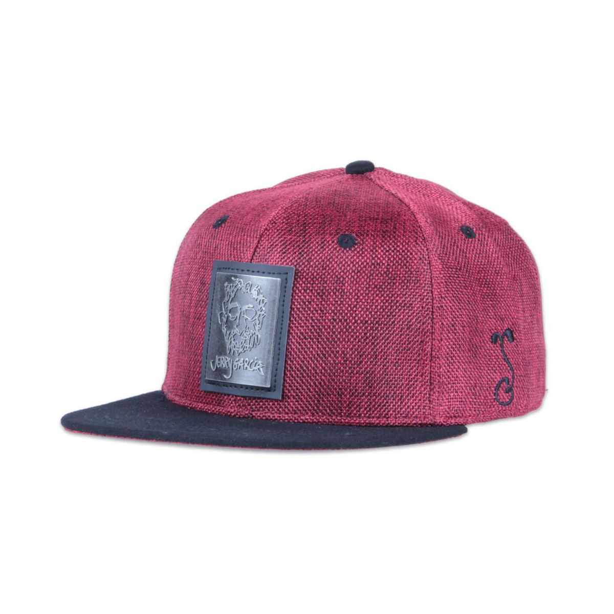 Grassroots California Metal Badge Face Red Snapback