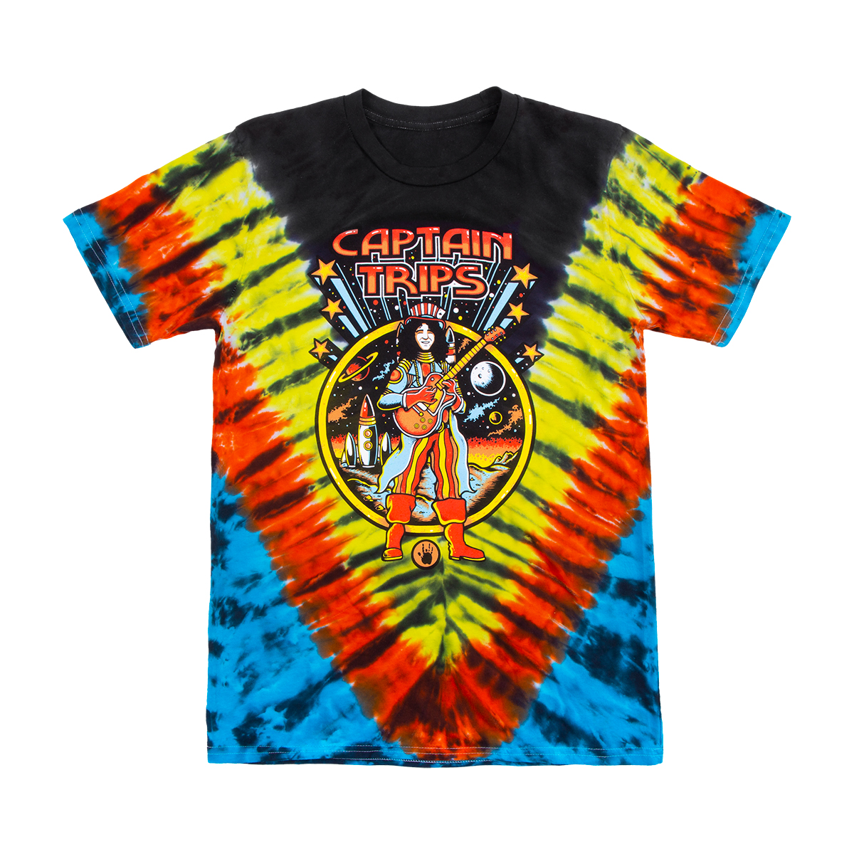 Captain Trips Hand Tie-Dyed Organic T-Shirt