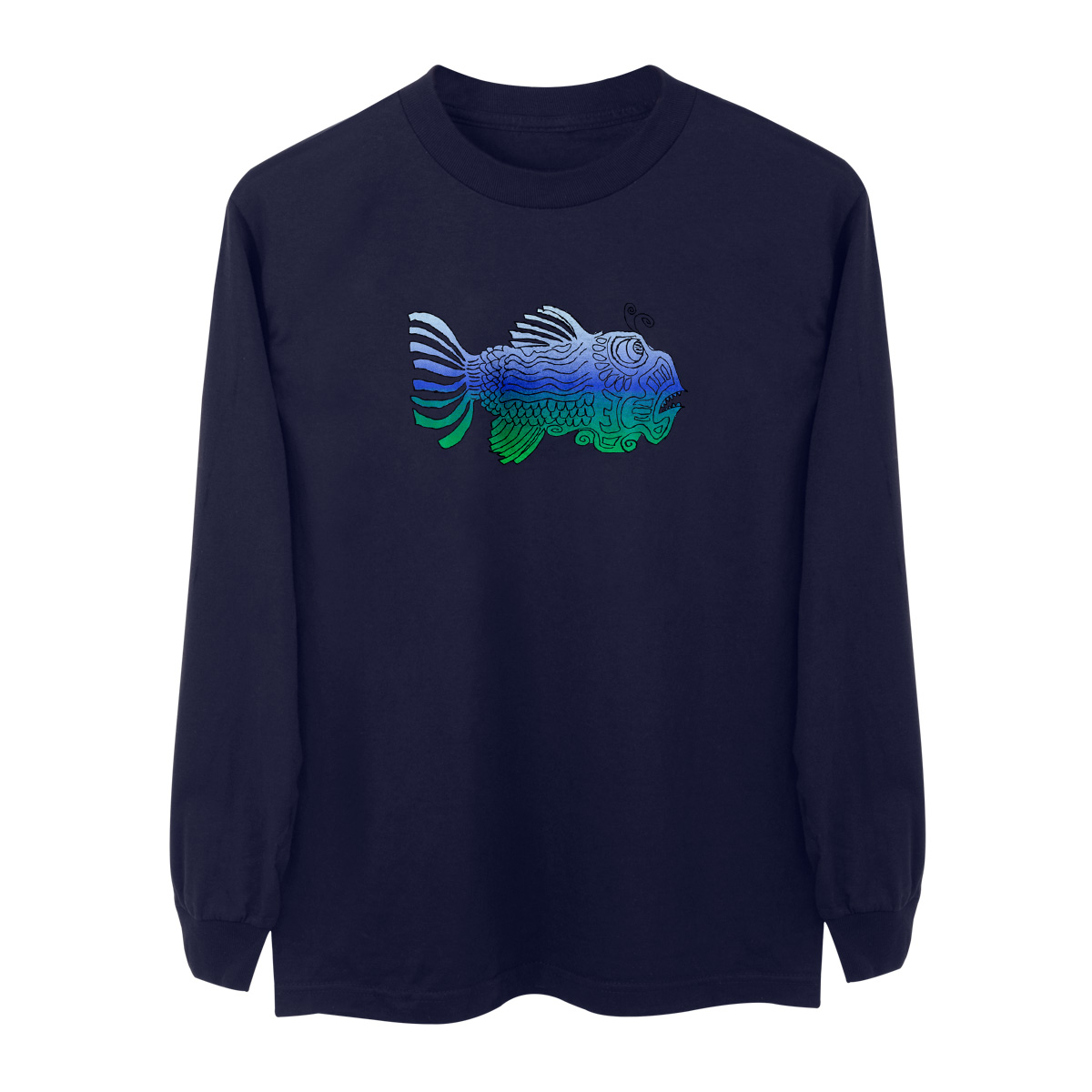 Jerry Garcia Longsleeve Fish T-Shirt