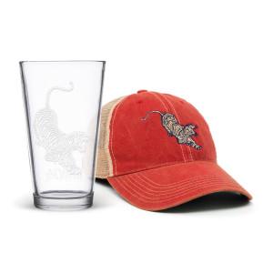 Tiger Hat & Pint Glass Bundle