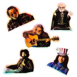 Jerry Garcia Holographic Sticker Bundle