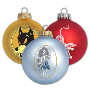 Jerry Garcia Inlay Ornaments (Bundle of Three)